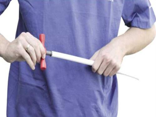 Работа с калибратором. Подготовка торца металлопластиковой трубы
