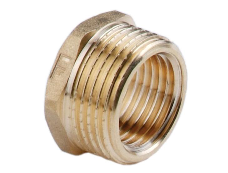 Футорка латунная PN10 для соединения двух веток трубопровода разного диаметра.