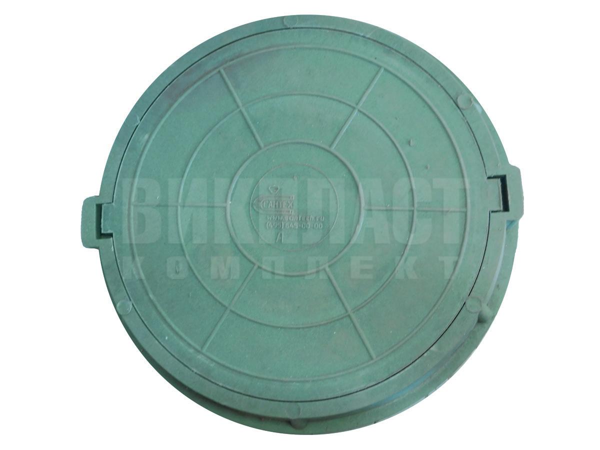 Люк полимерный пластиковый сантехнический круглый зеленый канализационный усиленный для воды купить в Минске