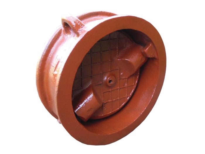 Обратный клапан 19ч21бр поворотный межфланцевый чугунный