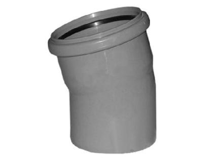 Отвод канализационный 110 мм угол 15 градусов полипропиленовый 15°.