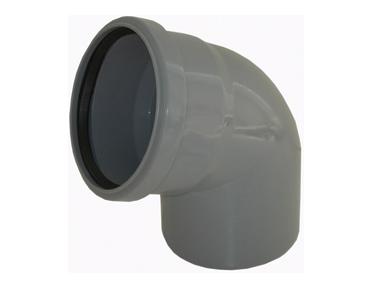 Колено для канализации 67° градусов полипропиленовое, отвод 67°