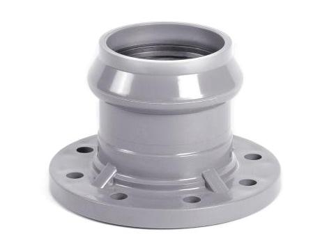 Патрубок раструбный с ПВХ фланцем PN10 напорный для соединения фланца и трубы ПВХ для водопровода.