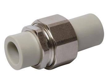 Разборное соединение полипропиленовое ПП для воды водоснабжения отопления фитинг из полипропилена