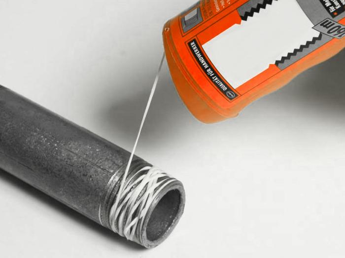 Нить уплотнительная полимерная сантехническая резьбовая нитка для труб