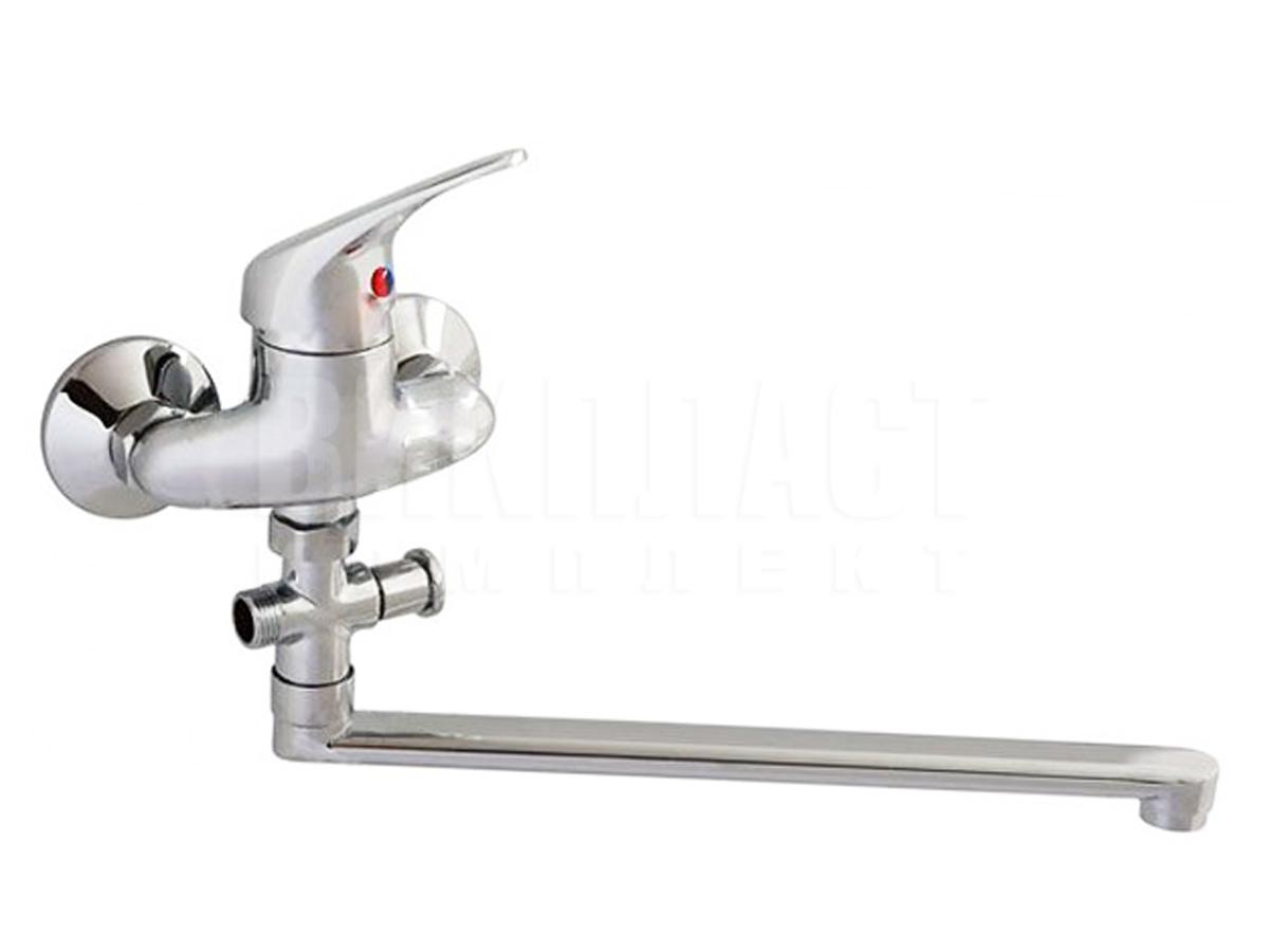 Смеситель для ванной ванны с душем Slovarm EA-3518 со шлангом с лейкой СловАрм