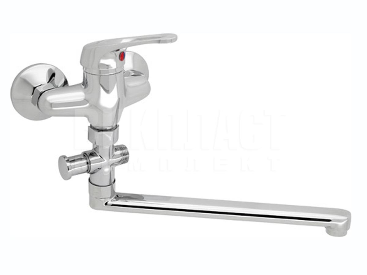 Смеситель для ванны и раковины, умывальника с душем Slovarm EB-3518 со шлангом с лейкой СловАрм