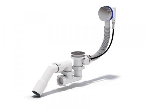 Перелив полуавтомат с сифоном Ани ЕМ421-ручка пластик, ЕМ321-ручка металл для подключения ванны