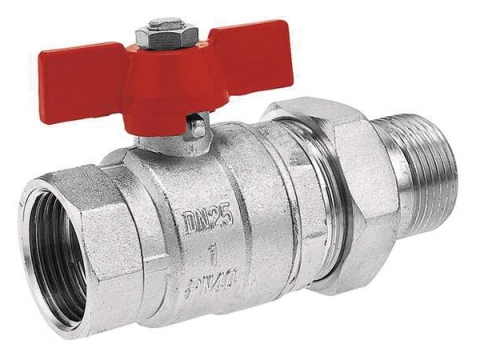 Кран шаровый муфтовый со штуцером (с американкой) для установки на трубопроводах как запорное устройство.