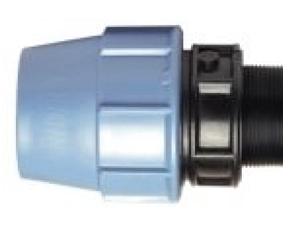 Муфта полиэтиленовая ПЭ с наружной резьбой GZ из полиэтилена компрессионная для холодного водопровода для перехода на резьбовое соединение.