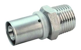 Муфта пресс. наружная резьба для многослойных металлопластиковых труб
