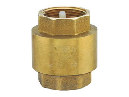 Обратный клапан муфтовый латунный для водоснабжения