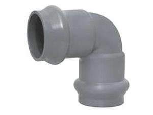 Отвод ПВХ двухраструбный 45°, 90° градусов водопроводный для напорного водопровода