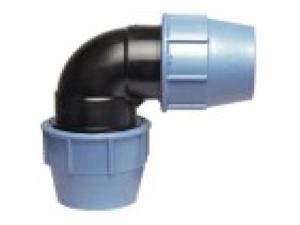 Отвод полиэтиленовый колено 90° ПЭ из полиэтилена компрессионный для наружного водопровода