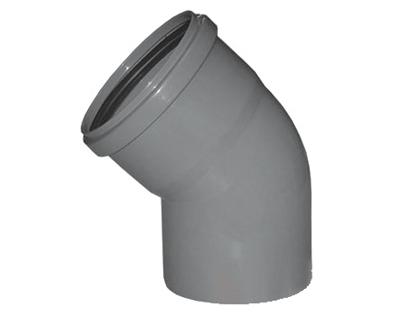 Отвод канализационный 45 градусов градусов из колено полипропилена.
