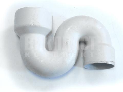 Сифон для чаши Генуя вертикальный пластиковый S-образный 125/110 мм