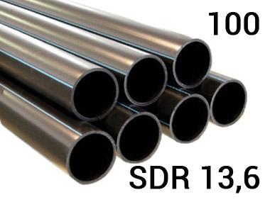 Труба полиэтиленовая ПЭ 100, PN12,5, SDR13,6 напорная для наружного водопровода для холодной воды под напором.
