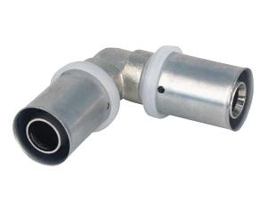 Угольник пресс 90° градусов для многослойных металлопластиковых труб