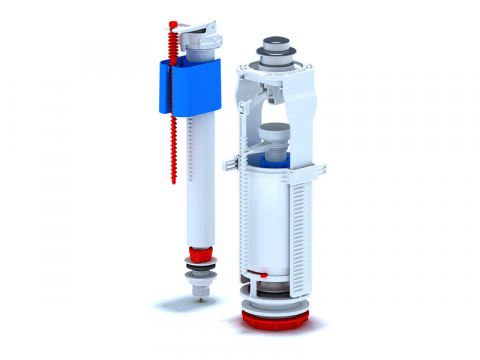 Сливной механизм бачка унитаза арматура кран клапан с нижней подводкой и подключением