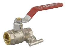 Кран шаровый для сенсора с дренажным клапаном (со спускником) ручка-рычаг для установки на трубопроводах как запорное устройство.