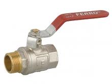 Кран шаровый внутренняя/наружная резьба ручка-рычаг для установки на трубопроводах как запорное устройство.