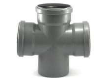 Крестовина для канализационных труб полипропиленовая 45° 67° 87° 90° градусов.