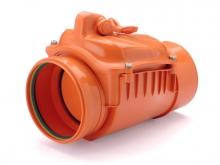 Обратный клапан ПВХ канализационный рыжий, для наружной канализации для предотвращения движения стоков в противоположном направлении