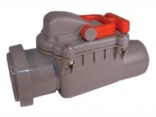 Обратный клапан канализационный 50 мм канализационный для предотвращения движения стоков в противоположном направлении.