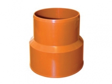 Переход ПВХ с чугуна на пластик канализационный, тапер, трапер для наружной канализации