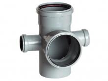 Крестовина трехплоскостная канализационная пятерник полипропиленовая 110х110х110х50х50 купить в Минске