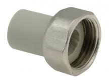 Штуцер пластмассовый с перекидной гайкой полипропиленовый для воды водоснабжения отопления фитинг из полипропилена