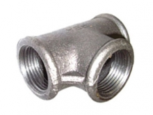 Тройник чугунный резьбовой оцинкованный для подключения дополнительной ветки трубопровода водогазопроводных труб для отопления, водоснабжения, газопровода