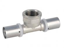 Тройник пресс внутренняя резьба для многослойных металлопластиковых труб