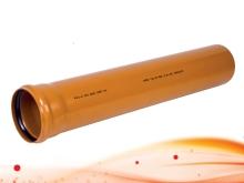 Канализационные трубы ПВХ SN8 рыжие, для наружной канализации