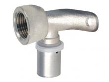 Угольник пресс 90° градусов с креплением внутренняя резьба для многослойных металлопластиковых труб