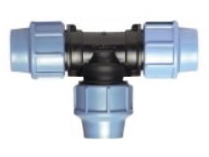 Тройник полиэтиленовый ПЭ из полиэтилена компрессионный для холодного водопровода из полиэтилена