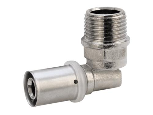 Угольник пресс 90° градусов наружная резьба для многослойных металлопластиковых труб