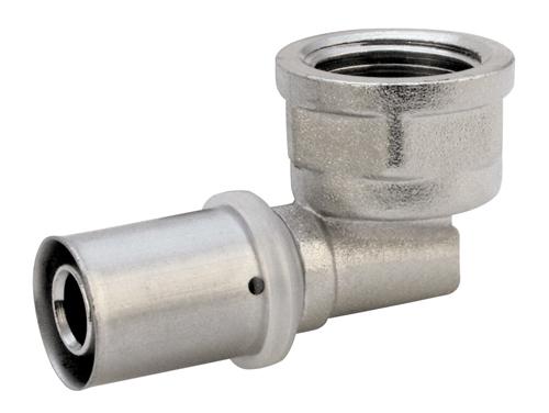 Угольник пресс 90° градусов внутренняя резьба для многослойных металлопластиковых труб