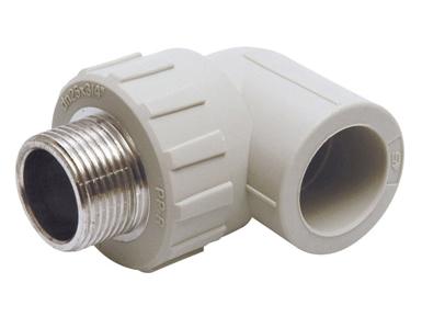Угольник отвод 90° градусов с наружной резьбой полипропиленовый ПП для воды водоснабжения отопления фитинг из полипропилена