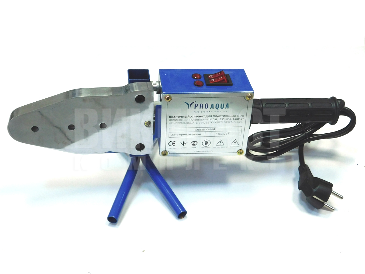 Аппарат для сварки полипропиленовых труб PRO AQUA CM-02 1500 Вт