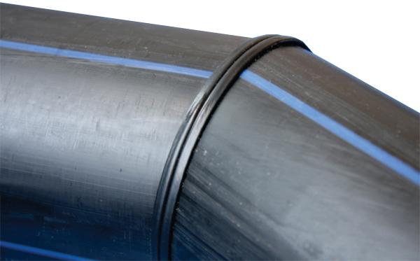 Отвод для полиэтиленовых напорных труб сварной фото шов