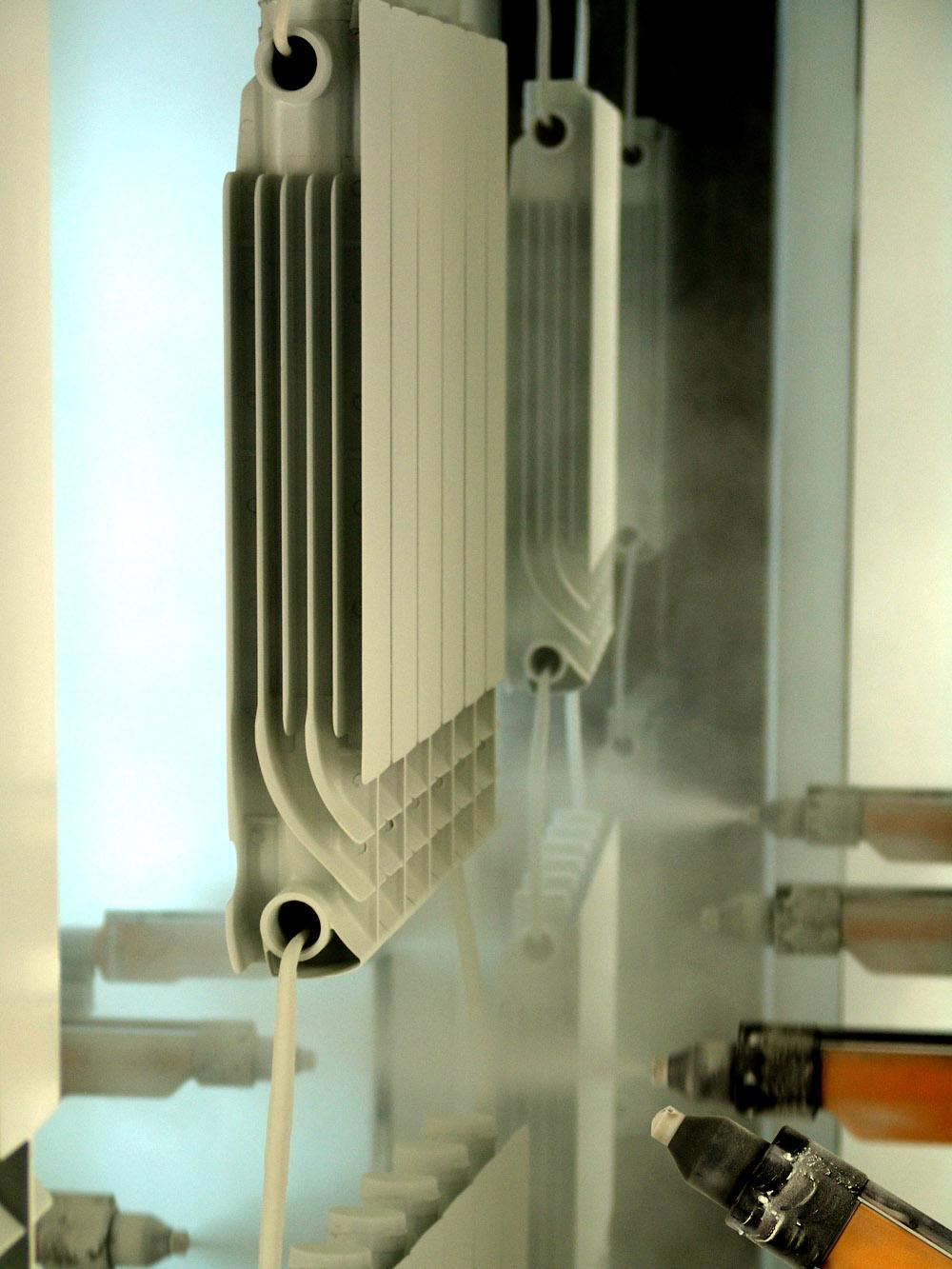 Покраска алюминиевый радиатор отопления Мирадо 500 Mirado