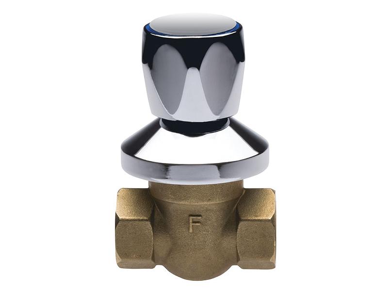 """Кран шаровый латунный под штукатурку ручка-вентиль ручка хромированная FERRO 50KPР1D 1/2"""" для установки на трубопроводах как запорное устройство."""