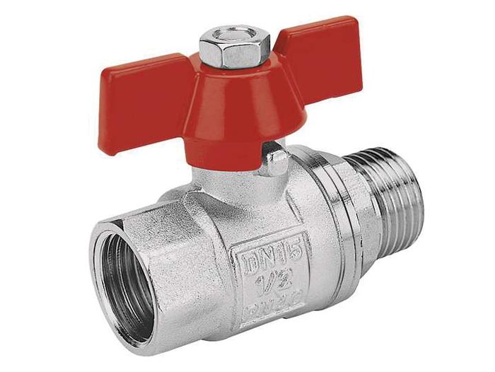 Кран шаровый внутренняя/наружная резьба ручка-бабочка для установки на трубопроводах как запорное устройство.
