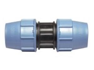 Муфта соединительная полиэтиленовая из полиэтилена компрессионная для наружного водопровода для соединения двух концов трубы.
