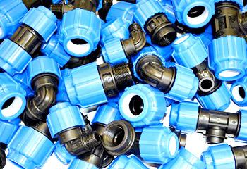 Компрессионные фитинги полиэтиленовые ПЭ для полиэтиленовых труб