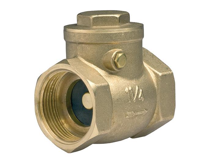 Обратный клапан подъемный муфтовый латунный FERRO