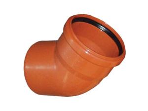 Отвод ПВХ 30° градусов канализационный, для наружной канализации