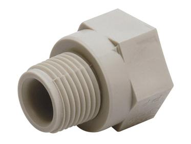 Переход с пластмассовой наружной резьбой для воды водоснабжения отопления фитинг из полипропилена