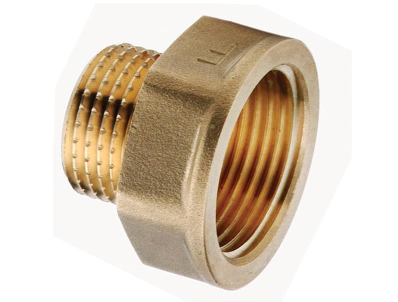 Редукция латунная внутренняя/наружная для соединения двух веток трубопровода различного диаметра.